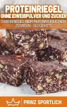 Protein bars without protein powder and sugar-Proteinriegel ohne Eiweißpulver und Zucker Want healthy protein bars that don& have any strange additives ? Then be sure to try the recipe on my website for protein bars without protein powder! Protein Desserts, Protein Snacks, Low Carb Desserts, Healthy Dessert Recipes, Keto Snacks, Healthy Smoothies, Smoothie Recipes, Shake Recipes, Aperitivos Keto