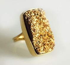 Gold dusted ring
