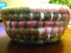 Sage and Rose Colored Mini Basket by TundraTalents on Etsy, $10.00