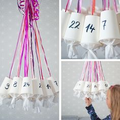 Pro and fast DIY advent calendar made of paper cups. A tutorial of johannarundel.de Informations About DIY Adventskalender aus Pappbechern – schnell selbst gemacht Pin … Paper Cup Crafts, Diy Paper, Paper Cups, Paper Plates, Diy Advent Calendar, Kids Calendar, Diy Crafts To Do, Crafts For Kids, Kids Diy