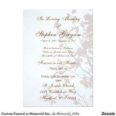 30 Best Invitations Announcements And Mourning Cards Images In