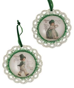 St. Patrick's Day Greetings Ornaments from The Holiday Barn