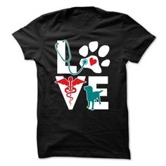 Show how proud you are with your profession wearing Veterinarian Love dog v.Teal. Check more Veterinarian t-shirts. If you want different color, style or have idea for design contact us we might can h