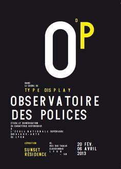 poster | Observatoire Des Polices | 2013