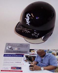 Frank Thomas Autographed Hand Signed Chicago White Sox Mini Helmet - PSA/DNA