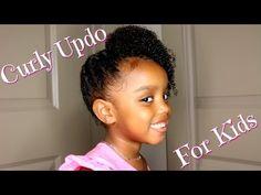 Curly Messy Braid Updo With Little YoshiDoll - http://community.blackhairinformation.com/video-gallery/natural-hair-videos/curly-messy-braid-updo-little-yoshidoll/