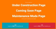 Do you need an Under Construction Page or a Coming Soon Page  or a Maintenance Mode Page while you're working on your site? Here's how to do it with a free plugin.