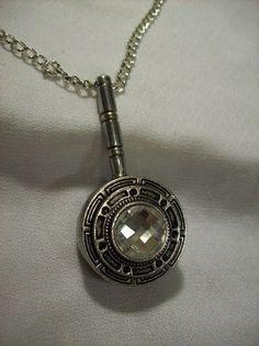 Small Vintage Silver Floral Rhinestone Swivel Magnifying Glass Charm N | Jenstardesigns - Jewelry on ArtFire