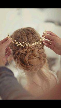 Peinado al estilo griego.. Clásico y elegante