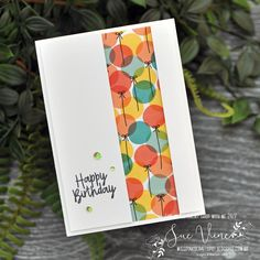Bonanza Buddies, Birthday Bonanza Suite, Iridescent Sequin Assortment - by Sue Vine - MissPinksCraftSpot Masculine Birthday Cards, Handmade Birthday Cards, Happy Birthday Cards, Masculine Cards, Birthday Wishes, Card Birthday, Birthday Images, Birthday Quotes, Birthday Greetings