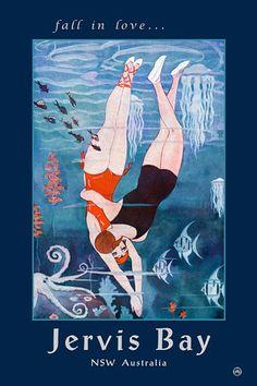 Fall in Love .. Jervis Bay, NSW, Australia   http://www.vintagevenus.com.au/vintage/reprints/info/TV696.htm