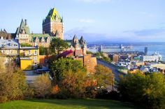 Quebec City, Quebec -- beautiful European city w/o having to go to Europe.  Brush up on your French!