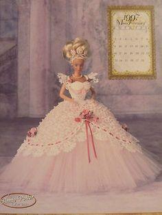 Miss Feb 1997 Annie Potter Calendar Doll Barbie Crochet Pattern  $12.00