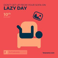 Don't get up from your sofa on Lazy Day!  All icons used in the series are available in our App. Imagine what YOU could create with them! Check out our FUTURAMO ICONS – a perfect tool for designers & developers on futuramo.com