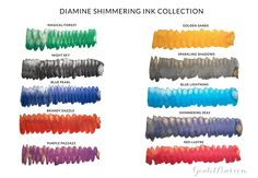 Goulet Pens Blog: Introducing Diamine Shimmering Ink Collection!