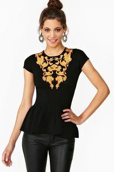 Vivienne Peplum Top  http://www.nastygal.com/whats-new_clothes/vivienne-peplum-top