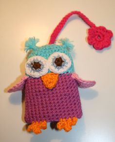 Over 200 Free Owl Crafts Sewing Crochet Knitting and More at Allcrafts Knitted Owl, Crochet Owls, Crochet Potholders, Crochet Animals, Crochet Patterns, Crochet Ideas, Owl Keychain, Crochet Keychain, Crochet Bookmarks