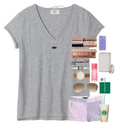 """""""Thank you guys so much for 500 followers!! Contest details to come later tonight."""" by pandapeeper ❤ liked on Polyvore featuring J.Crew, Ray-Ban, Kendra Scott, Kate Spade, Victoria's Secret, Maybelline, Clarins, Urban Decay, Butter London and NYX"""