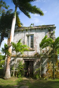 Falmouth, Jamaica. Step back in time and wander through the island's largest plantation to discover the great houses of the 18th century at the Good Hope Estate.