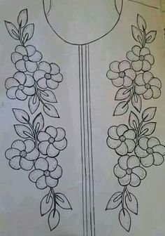 Grand Sewing Embroidery Designs At Home Ideas. Beauteous Finished Sewing Embroidery Designs At Home Ideas. Border Embroidery Designs, Embroidery Flowers Pattern, Embroidery Works, Hand Embroidery Stitches, Silk Ribbon Embroidery, Crewel Embroidery, Machine Embroidery Designs, Broderie Bargello, Stitch Patterns