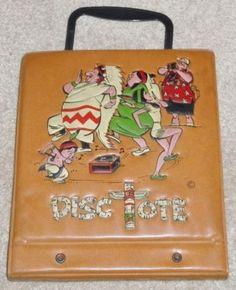 "Ponytail Indian PowWow 14 Disc Tote Portable 45rpm 7"" Record Vinyl Case Handle"