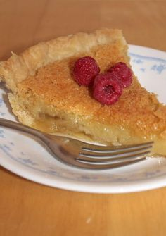 Old-Fashioned Vinegar Pie ~ sounds strange but this old-fashioned pie ...