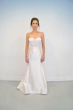Silk Mikado fit and flare gown with corset bodice -- Warren | Emily Kotarski Bridal CS