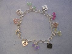 Candy Hearts Bracelet with Swarovski and Sterlin Silver.