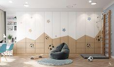 APARTMENT IN SAINT-PETERSBURG on Behance Bedroom Cupboard Designs, Wardrobe Design Bedroom, Kids Bedroom Designs, Home Room Design, Kids Room Design, Kids Wardrobe, Built In Furniture, Home Furniture, Kura Ikea