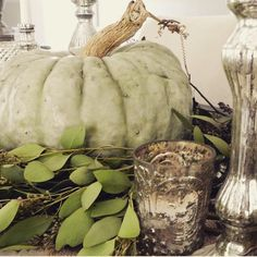 Ohh sweet I can't wait for you! Getting excited for this new season Rooms For Rent, Halloween 2015, Mercury Glass, Tablescapes, Farmhouse Style, Pumpkin, Autumn, Seasons, Sweet
