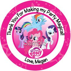 Personalized Stickers My Little Pony Group By PaperDazzle 595