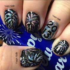 Nails from New Years Eve Photo by vixen_nails by lorraine