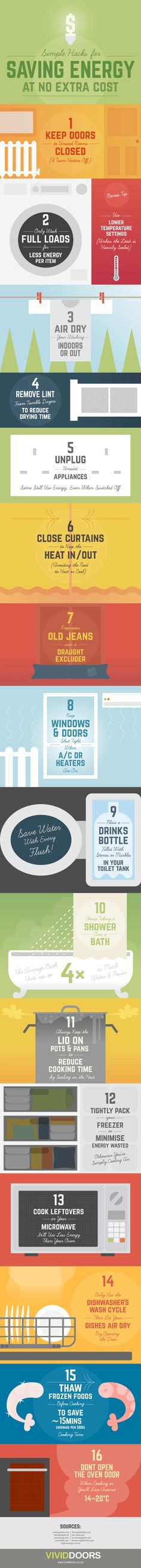 Quick Tips You Can Use to Save Energy (And Money) ♥ Loved and pinned by www.rprheating.com