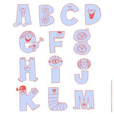Drawing For Kids, Art For Kids, Abc Letra, Character Letters, Cool Lettering, Happy Birthday, Stick Figures, Word Design, Letter Art