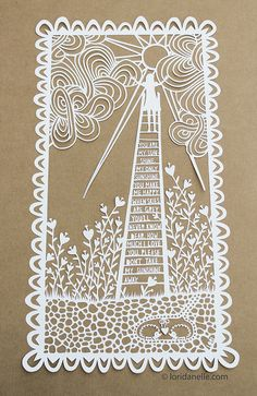 You are My Sunshine Paper Cutting by Lori Danelle