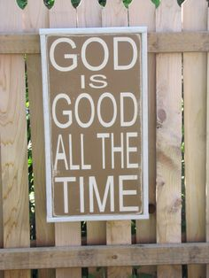 Christian Wall Art God is Good Wooden Sign by leapoffaithsigns