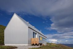 Award Winning Contemporary Scottish Architecture for the Rural Landscape based in the Isle of Skye and working throughout the Highlands and Islands of Scotland. Specialising in Timber construction and sustainable design. Design Simples, Agricultural Buildings, Tin House, Rural House, Metal Siding, Skye Scotland, Shed Homes, House Siding, Small House Plans