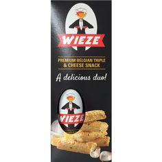 Wieze Delicious Duo | A nice gift that combines a Wieze Triple 75cl bottle with the new Wieze Cheese Snack.