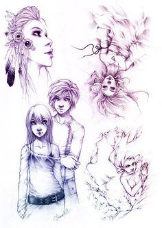 Sketches V by Charlie-Bowater.deviantart.com on @DeviantArt