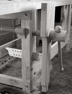 When it comes to woodworking vises, I'm quite fond of the leg vise. Once you buy a vise screw (an inexpensive metal screw runs about $30. We're making this leg vise using the wooden screw from Big Wood Vise), you can build the rest of the vise yourself. As a result you can size everything about the vise to your needs, including where the handle goes, where the parallel guide …