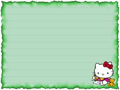 PAPEL DE CARTA 4: Hello Kitty