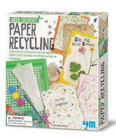 Look at this #zulilyfind! Paper Recycling Kit #zulilyfinds