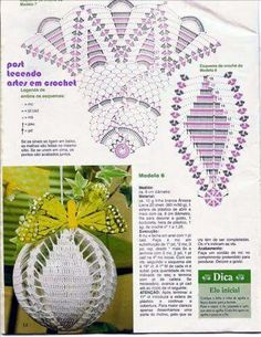 Best 12 Elena Crochet D'art num 28 – Beth Muller – Álbuns da web do Picasa – Page 659707045393365057 Crochet Christmas Decorations, Crochet Decoration, Crochet Ornaments, Christmas Crochet Patterns, Beaded Christmas Ornaments, Holiday Crochet, Crochet Snowflakes, Christmas Balls, Handmade Christmas