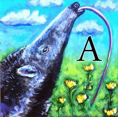 A is for Anteater Sally, Dean, Alphabet, Lettering, Artist, Painting, Alpha Bet, Artists, Painting Art
