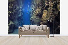 Diver Between Tectonic Plates - Decoration Murale & Papier Peint Photo - Photowall
