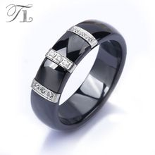 Get The Latest Fashion Jewelry  TL Stainless Steel Ceramic Rings For Women Three Lines Inlaid Zircon Cubic Unique Design Cheap Cocktail Rings Wedding Jewelry     Buy Jewelry At Wholesale Prices!     FREE Shipping Worldwide     Get it here ---> http://jewelry-steals.com/products/tl-stainless-steel-ceramic-rings-for-women-three-lines-inlaid-zircon-cubic-unique-design-cheap-cocktail-rings-wedding-jewelry/    #silverjewelry