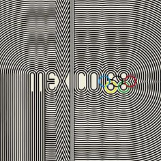 I lived in Mexico City in 1968 and attended a couple of events during the Olympics Logo for the Mexico 1968 Olympics. Not in 2011, but impressive.  I had this image as a postcard that ended up being sold at a garage sale.  The black part was a raised velour.