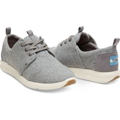 Grey Felt Suede Women's Del Rey Sneakers (105 CAD) ❤ liked on Polyvore featuring shoes, sneakers, gray sneakers, grey suede shoes, light weight shoes, gray shoes and felt shoes