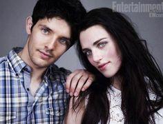 Colin Morgan and Katie McGrath.