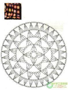 Motif Mandala Crochet, Crochet Circles, Crochet Motifs, Crochet Diagram, Crochet Stitches Patterns, Doily Patterns, Crochet Chart, Crochet Squares, Crochet Doilies